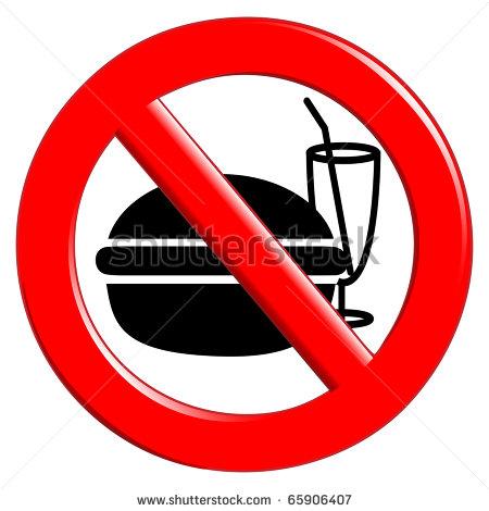 no eating no drinking